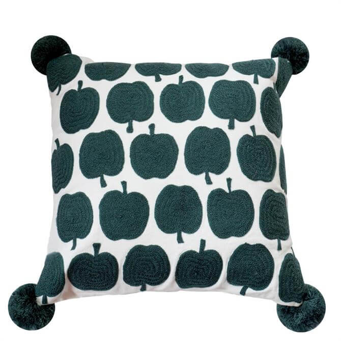 Bombay Duck Grey Apples Cushion