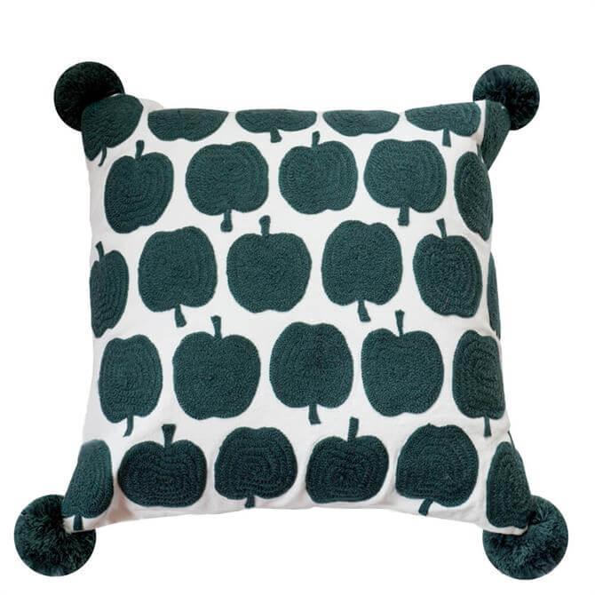 Bombay Duck Grey Apples Cushion