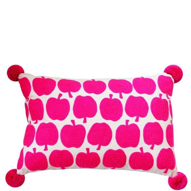 Bombay Duck Flamingo Pink Apples Rectangular Cushion