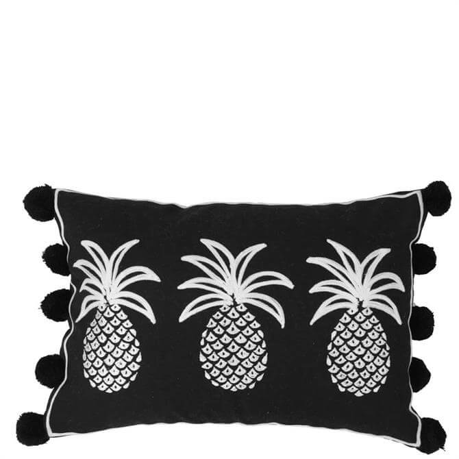 Bombay Duck Row of Three Pineapples Cushion