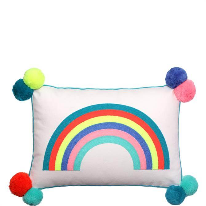 Bombay Duck Over the Rainbow Rectangular Cushion