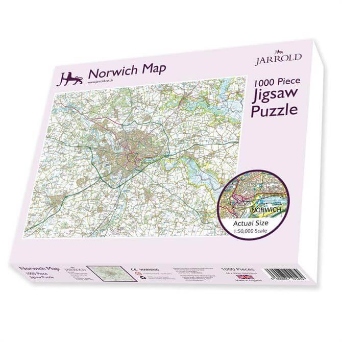 Jarrold Norwich OS Landranger Map Jigsaw Puzzle