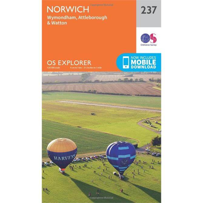 Norwich - OS Explorer Map 237 (Sheet map, folded)