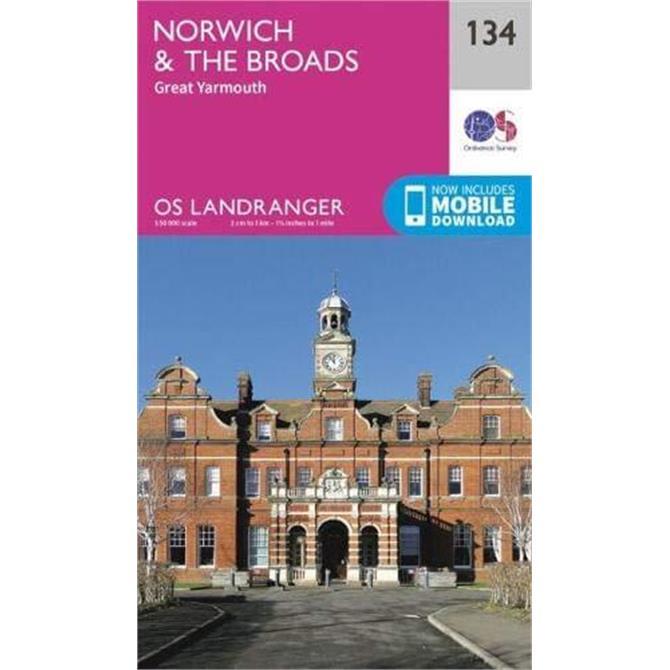 Norwich & The Broads: Great Yarmouth - OS Landranger Map 134 (Sheet map, folded)