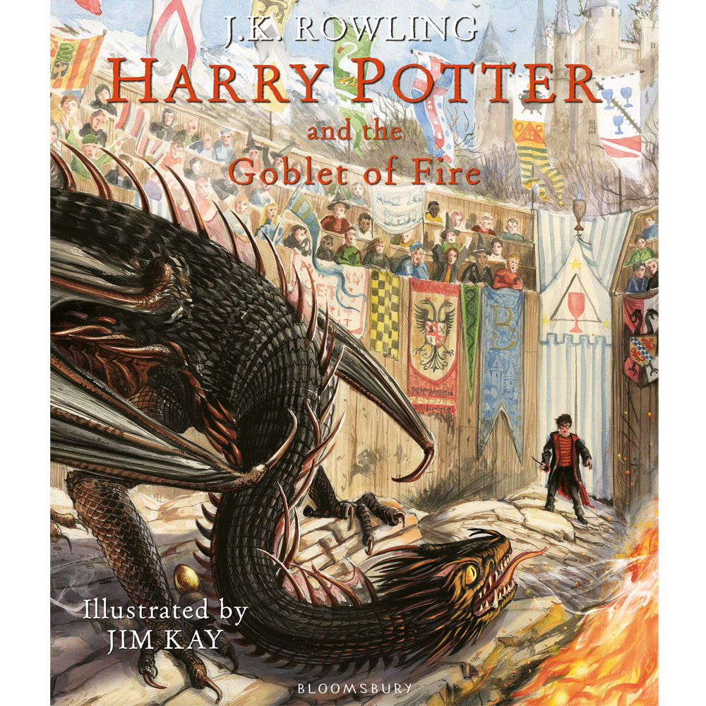 An image of Harry Potter and the Goblet of Fire By J. K. Rowling Illustrated (Hardback)