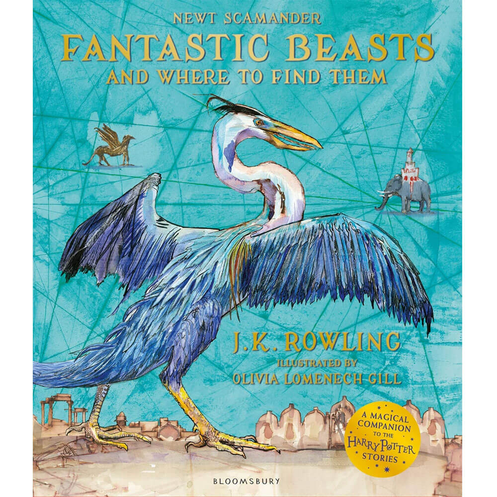 An image of Fantastic Beasts and Where to Find Them: Illustrated Edition By J. K. Rowling (P...