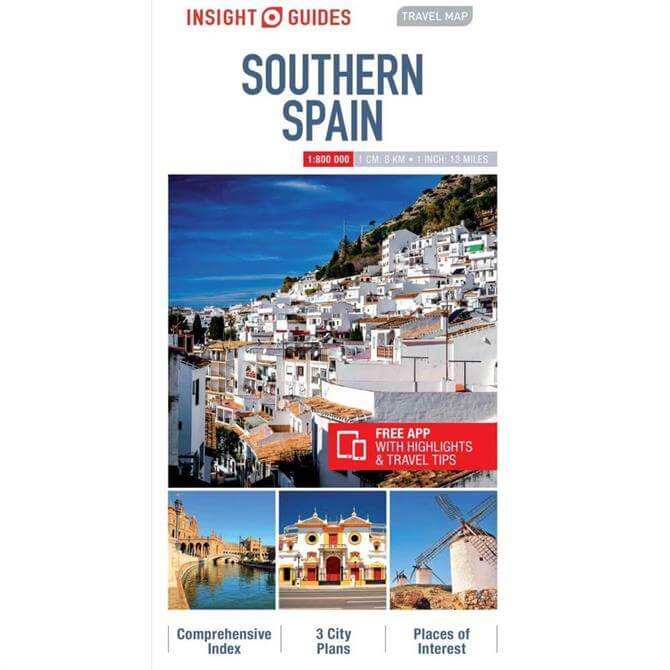 Insight Guides Travel Map: Southern Spain (Sheet Map)