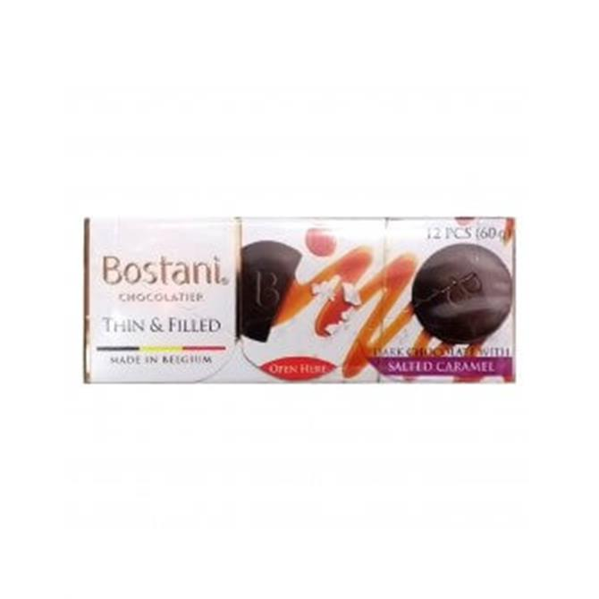 Bostani Thin and Filled - Milk Chocolate with Salted Caramel Filling 60g