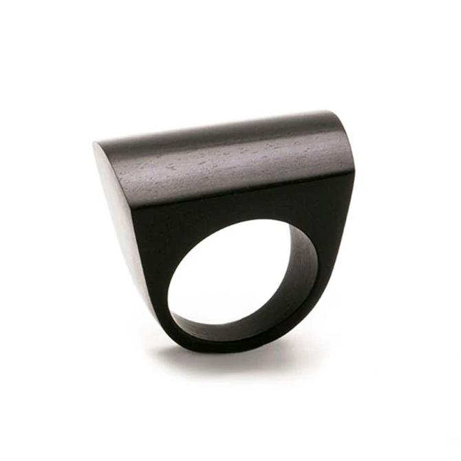 Branch Curved Wood Rectangular Ring