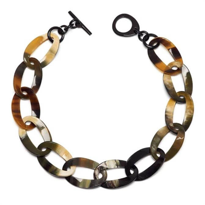 Branch Natural Buffalo Horn Curb Link Necklace