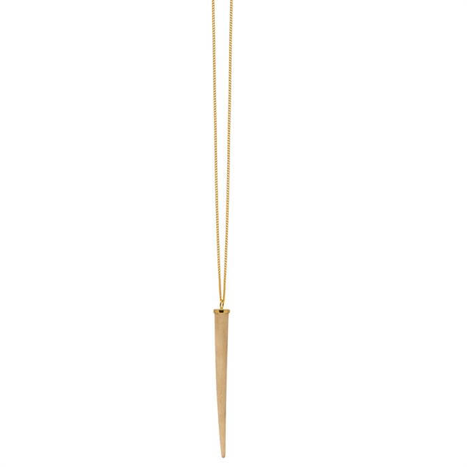 Branch Long Wooden Round Spike Pendant