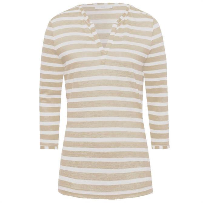 Brax Claire Striped Linen Top