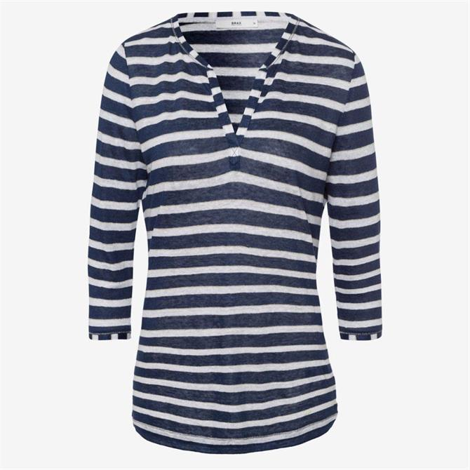 Brax Claire Striped Linen Top