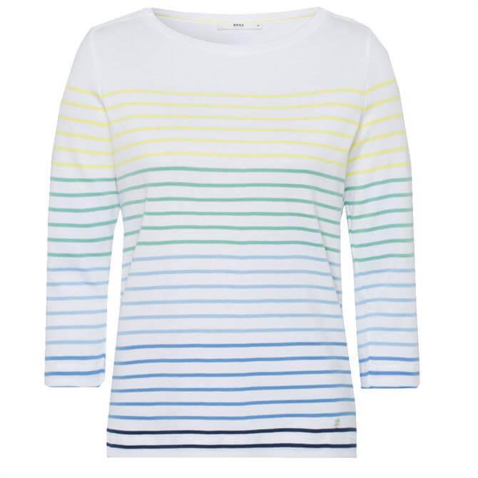 Brax Colletta Multi Stripe Cotton Top