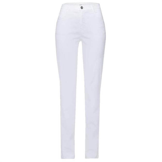 Brax Mary Five Pocket White Jeans