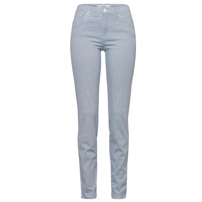 Brax Shakira Striped Slim Jeans