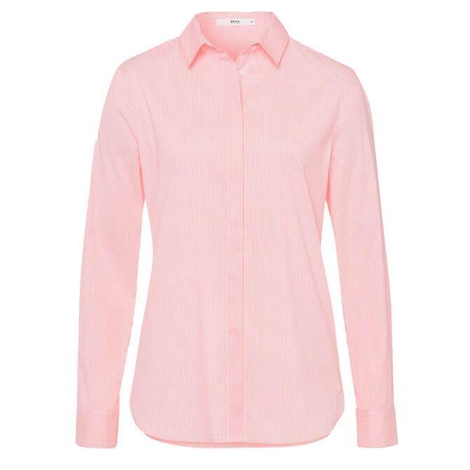 Brax Victoria Striped Cotton Mix Shirt