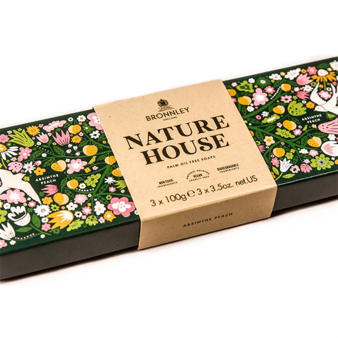 Bronnley Nature House Soap Bars 3x 100g