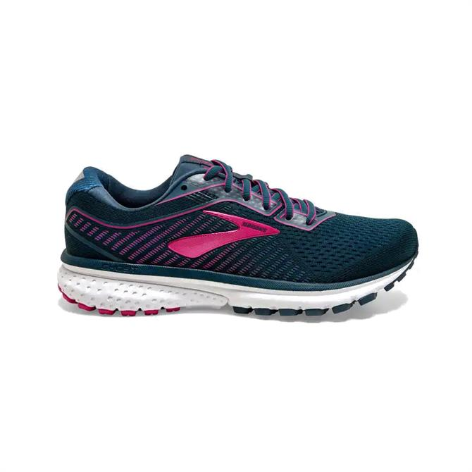Brooks Ghost 12 Women's Running Shoe - Navy/Pink