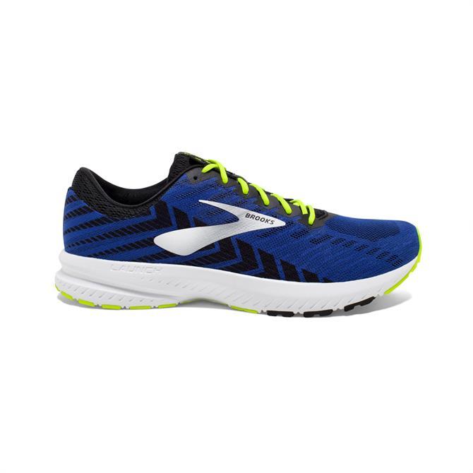 Brooks Mens Launch 6 Running Shoe Blue Black Nightlife