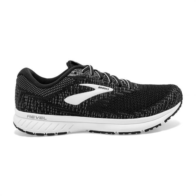 Brooks Women's Revel 3 Running Shoe - Black/White