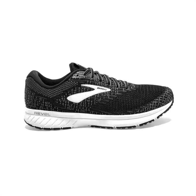 Brooks Men's Revel 3 Running Shoe - Black/White