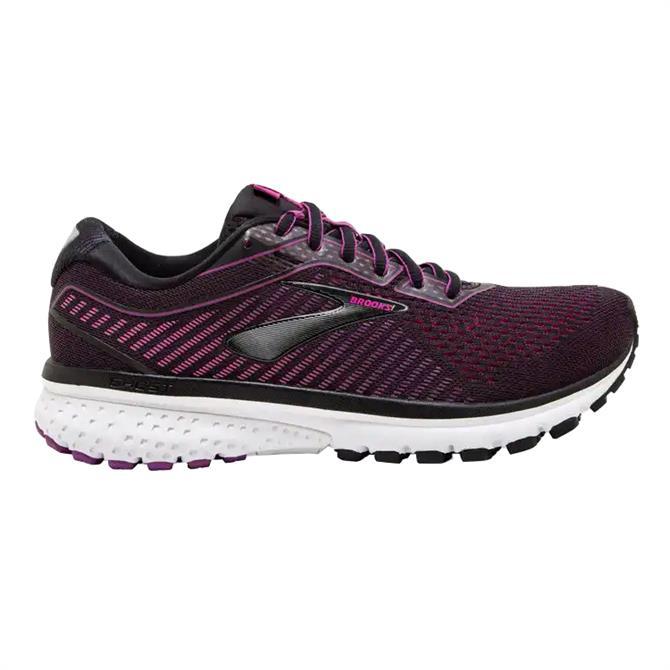 Brooks Women's Ghost 12 Running Shoe - Black/Pink
