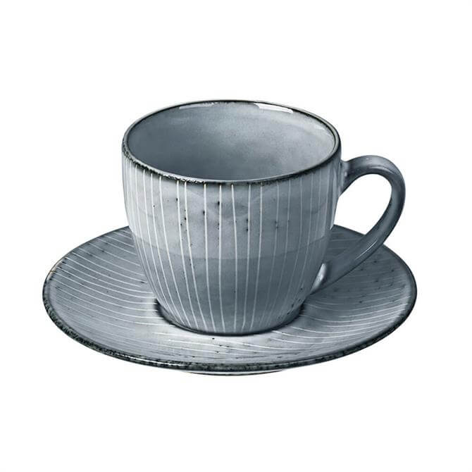 Broste Cup & Saucer Nordic Sea