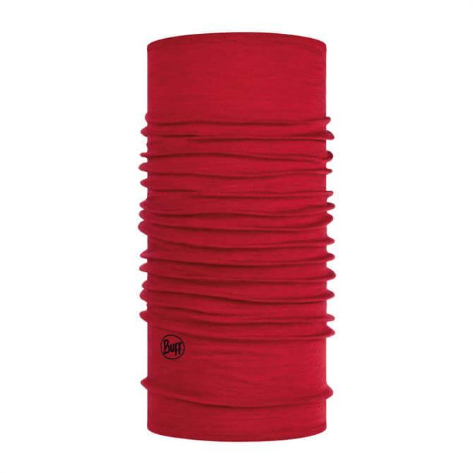 Lightweight Merino Wool Buff - Red