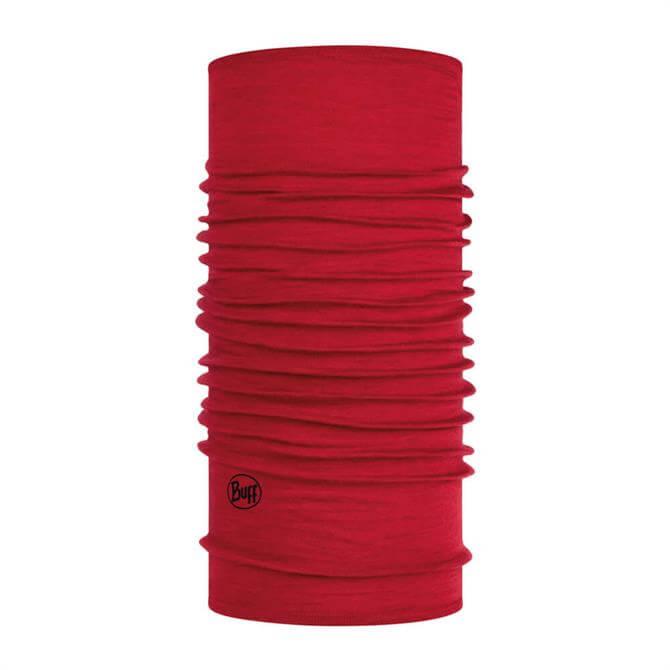 Midweight Merino Wool Buff - Red