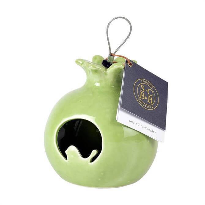 Burgon and Ball Ceramic Bird Feeder Sophie Conran Pomegranate