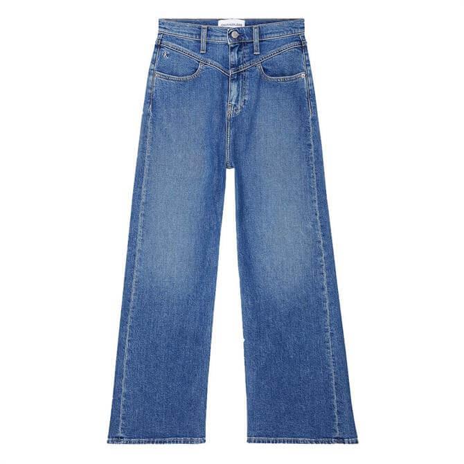 Calvin Klein Super High Rise Wide Cropped Jeans