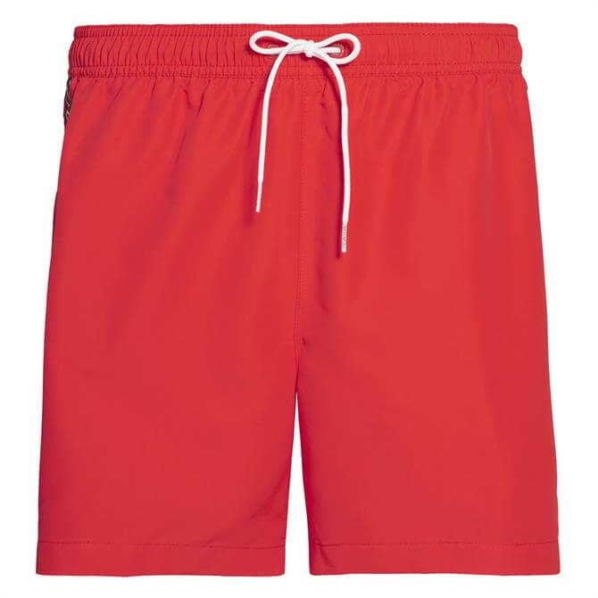 Calvin Klein Core Logo Tape Solid Swim Shorts