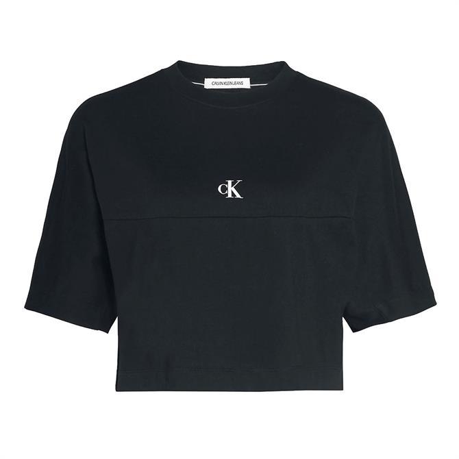 Calvin Klein Back Logo Cropped T-Shirt