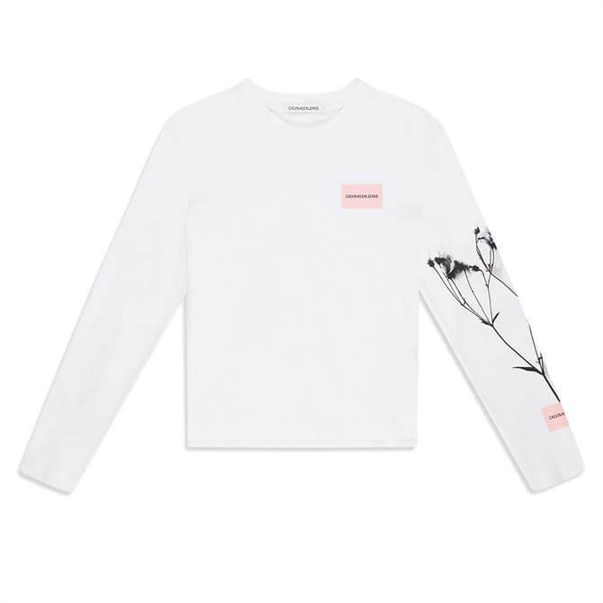 Calvin Klein Floral Print Long Sleeved T-Shirt