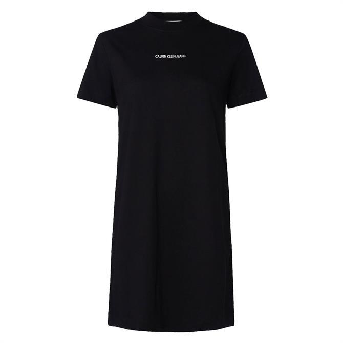 Calvin Klein Logo Tape Cotton Jersey T-Shirt Dress