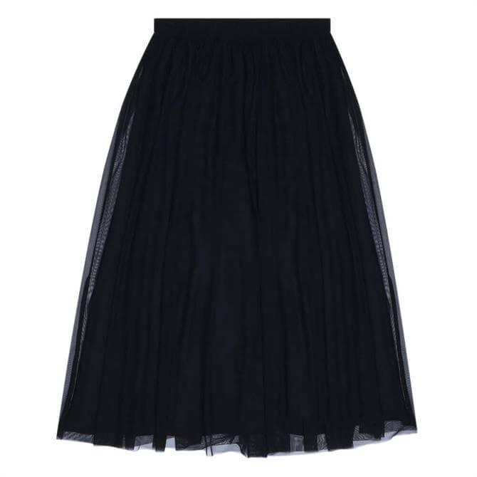 Calvin Klein Double Layer Mesh Midi Skirt