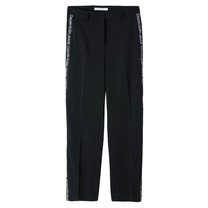 Calvin Klein Side Logo Wide Leg Trousers