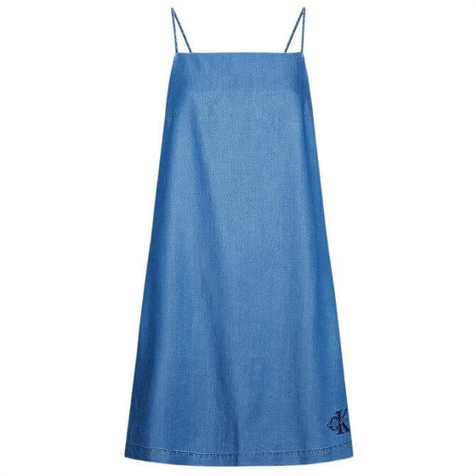 Calvin Klein Flared Denim Slip Dress