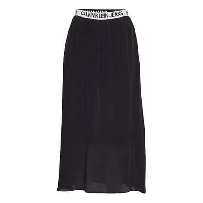 Calvin Klein Logo Waistband Midi Skirt