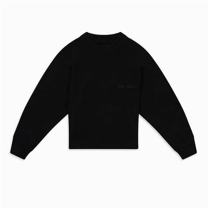 Calvin Klein Sweater Wool Back Logo Jumper