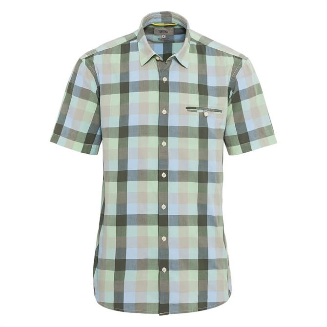 Camel Active Large Check Short Sleeve Shirt
