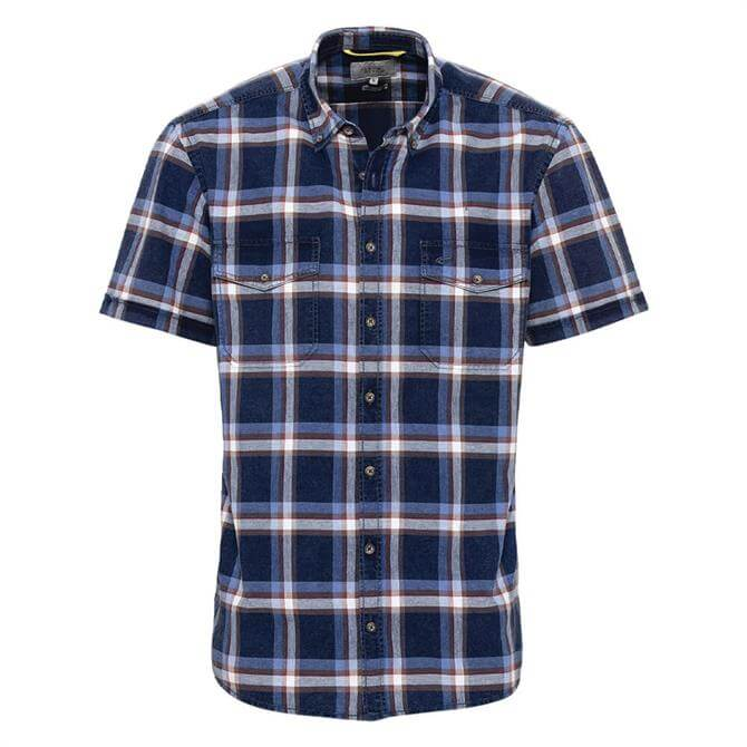 Camel Active Checked Short Sleeve Shirt