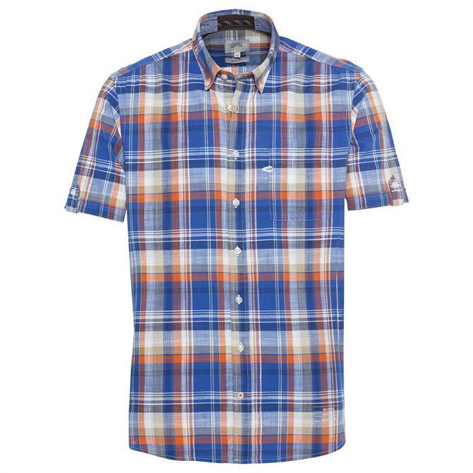 Camel Active Multicoloured Check Short Sleeve Shirt