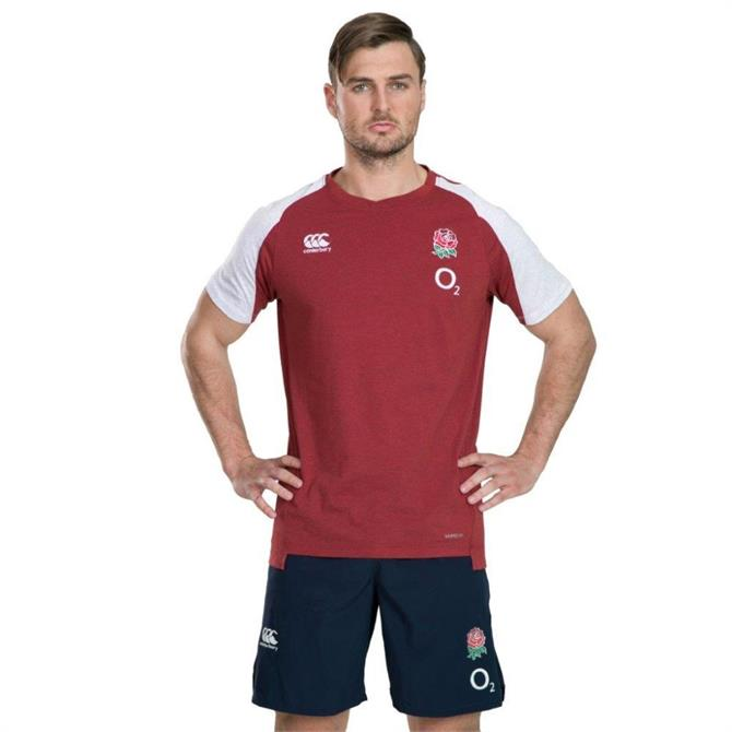 Canterbury England Rugby T-Shirt - Red