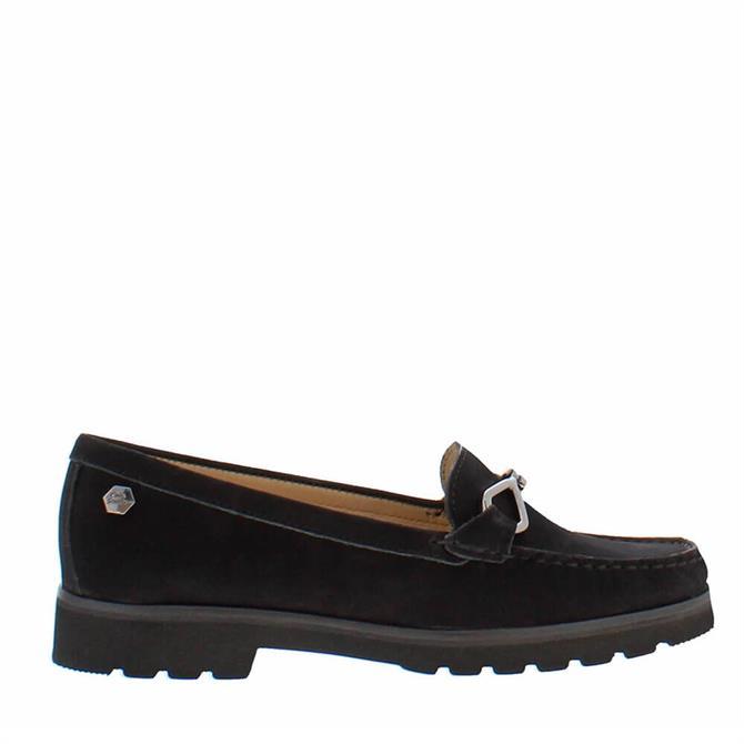 Carl Scarpa Honora Black Suede Loafers