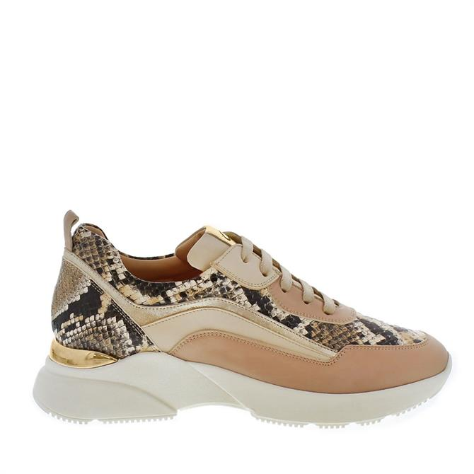 Carl Scarpa Adrianna Beige Leather Trainers