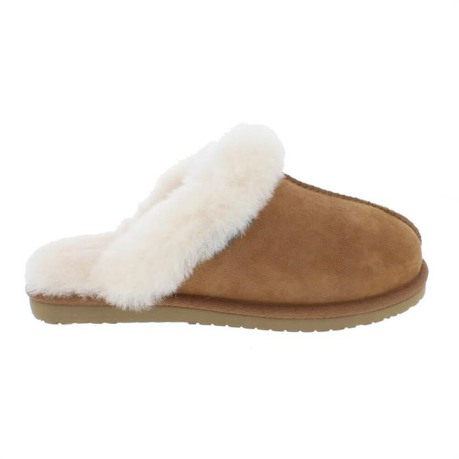 Carl Scarpa Agnella Suede and Sheepskin House Slippers