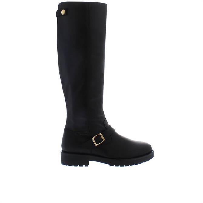 Carl Scarpa Allisa Black Leather Knee High Boots
