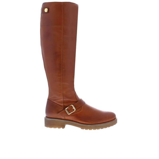 Carl Scarpa Allisa Tan Leather Knee High Boots